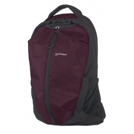 """Airpack, Lightweight Top-Loading Backpack for Most Laptop Computers Up To 15.6"""", Plum/Black"""